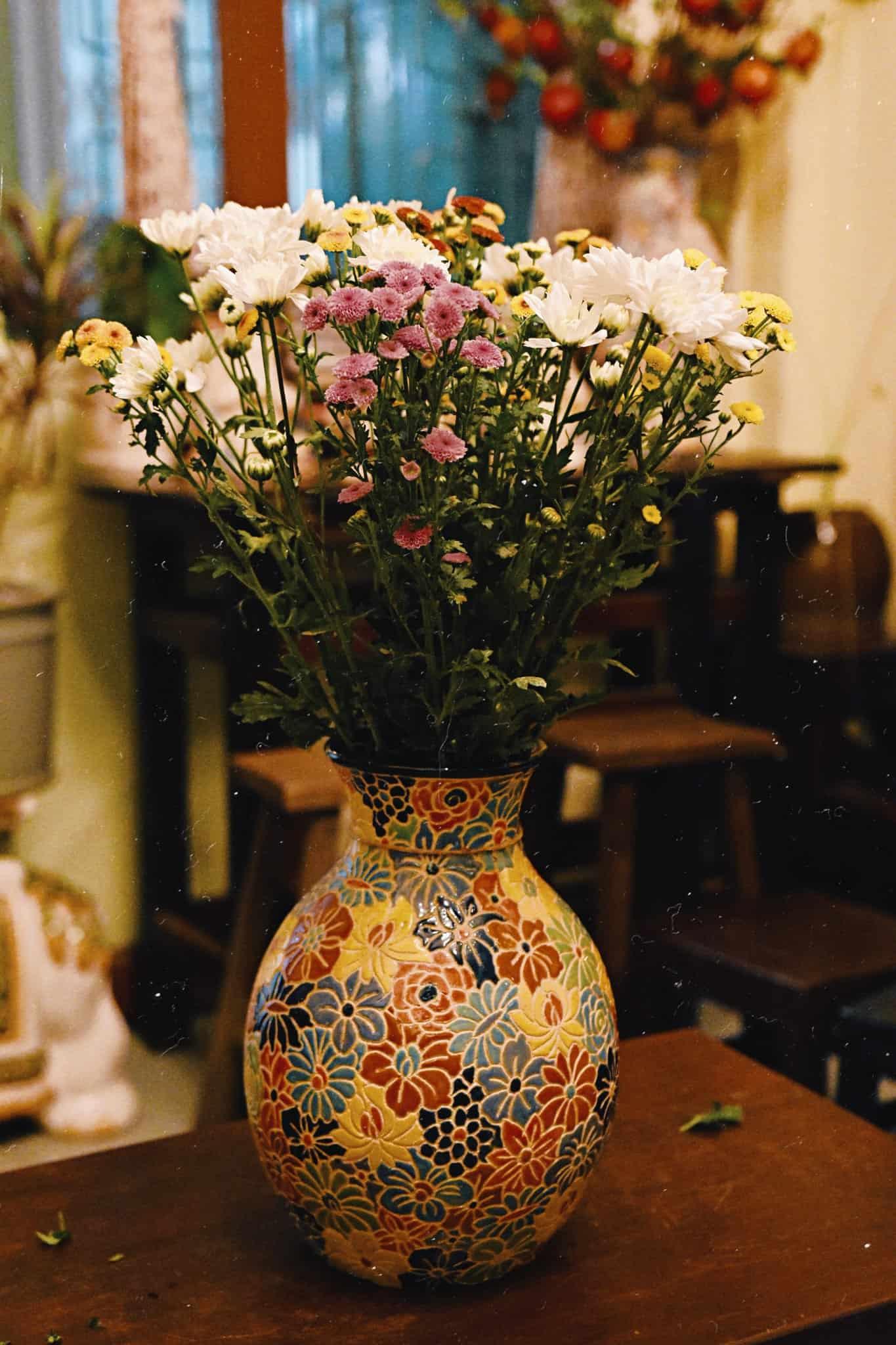 bình bách hoa cổ loe