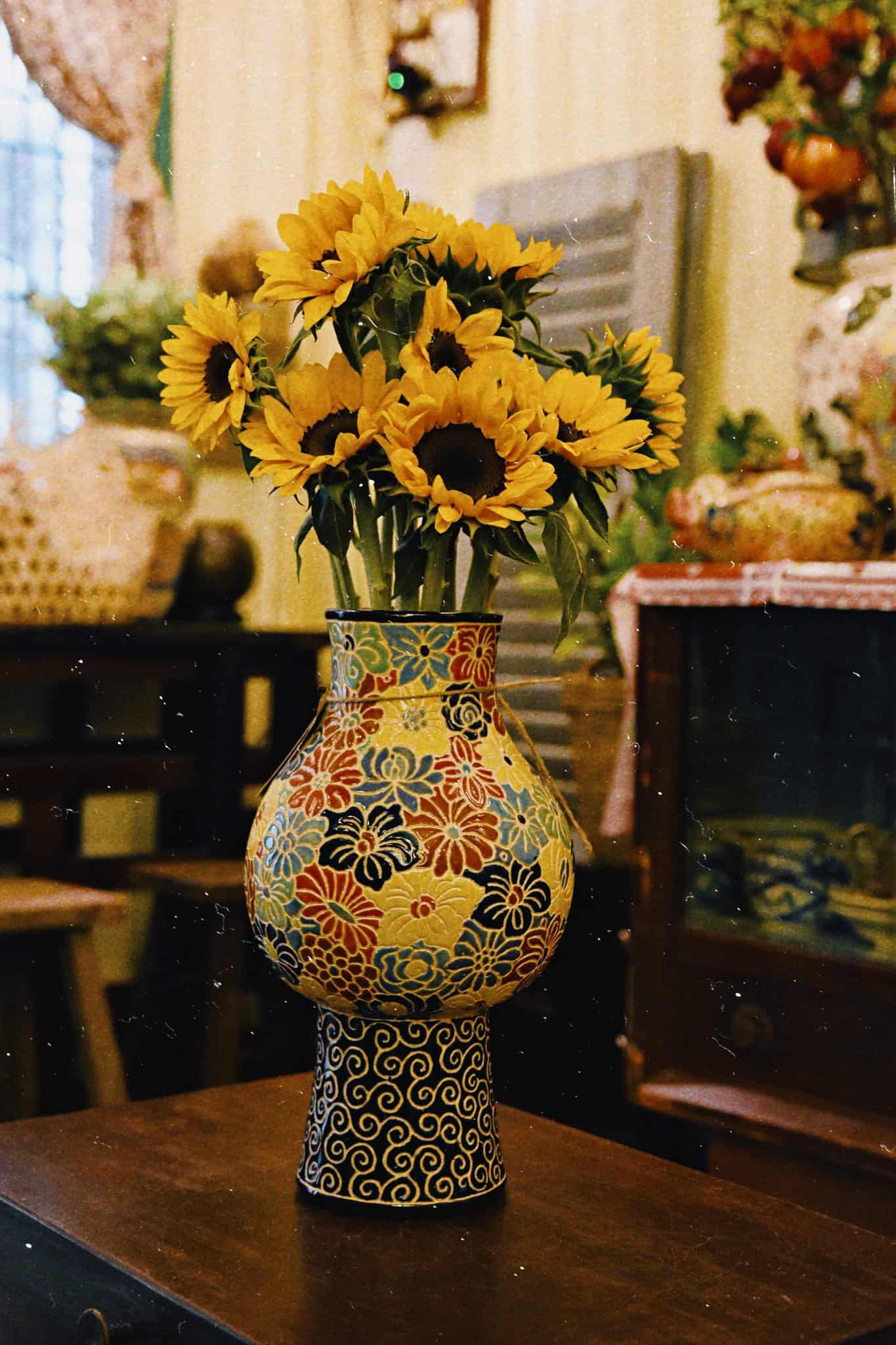 bình bách hoa